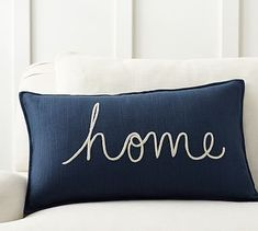 Home Sentiment Lumbar Pillow Cover #potterybarn