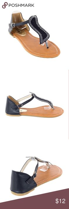 Women Black Slingback Thong Flat Sandals S1981 Women black thong flats sandals. Perfect for walks on the beach. If you are taking a vacation, these sandals will show everyone that you know fashion! Victoria K Shoes Sandals