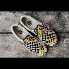 217eca2970adc8 CUSTOM Vans X Off-White Checkerboard Slip On Custom Shoes