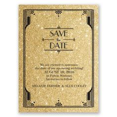 holiday weekend weddings sending save the dates advice and ideas - Gatsby Wedding Invitations