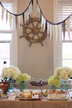beautiful, doable, nautical themed baby shower with some cute game and decor ideas (food ideas not so much my taste)
