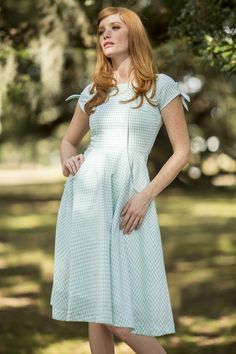 Cotillion Dress Mint Gingham from the Spring Collection by Shabby Apple