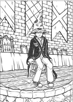 Harry Potter Sat Alone Coloring Pages
