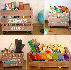 Decoración con palets y cajas de madera. Decoración
