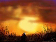 Sonnenuntergänge im Herbst haben einen ganz besonderen Zauber, lange und farbenfroh. Als ob die Sonne uns ganz nah sein will.   Make Myday  die Abenteuer der kleinen Fee als Kalender und FineArt http://www.spielweltv3galerie.com/shop/make-myday/