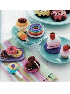 dessert amigurumi patterns  - Food Amigurumi - Ice Box Crochet - Crochet Pretend Play Food