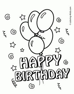 Happy Birthday Balloons Coloring Pages Free Online Printable Sheets For Kids Get The Latest