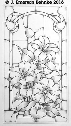 T T petunia like flower stack stained glass