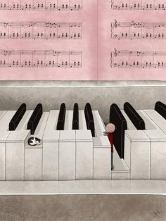 Lullaby by ThePaperCats on DeviantArt Piano Art, Piano Music, Music Music, Piano Keys, Music Love, Music Is Life, Mike Brand, Sheet Music Art, Music Illustration
