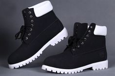 TIMBERLAND STUSSY MEN'S 6 INCH Boot BLACK WHITE,Fashion Winter Timberland Women Boots,black and white timberland boots