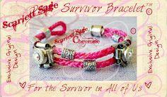 Pink Pistol Bullet Casing Survivor Bracelet by ScarlettSage, $28.50