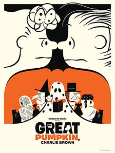 Great Pumpkin, Charlie Brown! (print by Dark Hall Mansion)