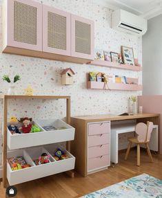 Baby Bedroom, Home Bedroom, Girls Bedroom, Bedroom Decor, Kids Bedroom Designs, Kids Room Design, Study Room Decor, Kids Room Organization, Baby Decor