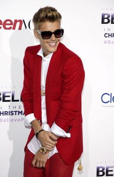 #Justin-Bieber #celebrities - Justin Bieber just got a new red outfit