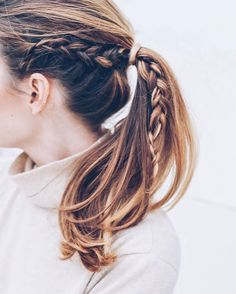 "ShopStyle on Instagram: ""The perfect pony inspo. #braids : @jessannkirby"""