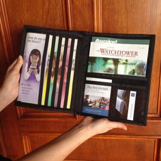 Tablet Ministry Organizer/Magazine Holder JW by pearlandjean