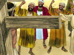 Jezus gekruisigd en begraven, 15 Bijbelplaten voor het digibord, kleuteridee.nl , Bijbelles voor kleuters.