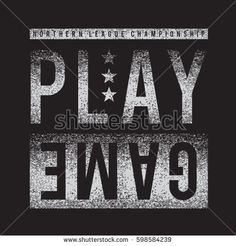 Athletic sport play game typography, tee shirt graphics, vectors