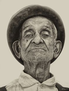 There are portraits that stare at you and turn over all inside. Photo Vide collected 20 black-and-white portraits, Black N White Images, Black And White Portraits, Black And White Photography, Black White, Old Man Face, Realistic Eye Drawing, Drawing Eyes, Eye Expressions, Old Faces