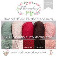 Crochet Colour Palette: Strawberry Latte featuring Rico Essentials Soft Merino Aran - The Homemakery Blog