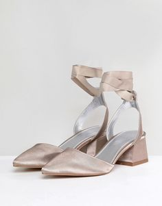 Find the best selection of ASOS DESIGN Seymour Tie Leg Mid Heels. Shop today with free delivery and returns (Ts&Cs apply) with ASOS! Asos, Bride Shoes, Shoe Closet, Rihanna, Fashion Online, Personal Style, Wedges, Grey, Heels