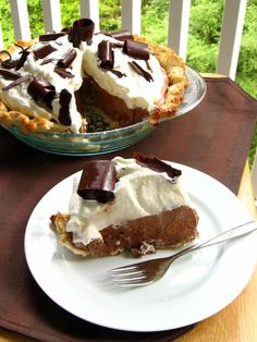 Light and rich... Chocolate Mousse Pie