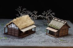 cherryblossoms and lead – wargaming the far east China Architecture, Unique Architecture, Japanese Architecture, House 3d Model, Japanese Buildings, Japanese Tea House, Warhammer Terrain, Wargaming Terrain, L5r