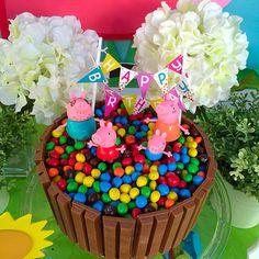 Peppa pig diy cake