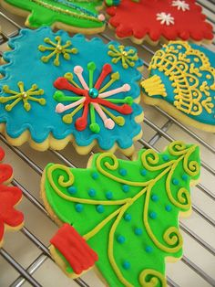 Christmas Cookies - bright colors