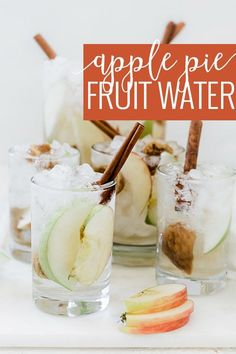 #ad A twist on the popular fruit water served at drink and treat shops. We have made thisApple Pie Fruit Water Recipeappropriate for the fall weather and holidays, by adding apples, figs,Torani Sugar Free Brown Sugar Cinnamon Syrupas well as Torani Sugar Free Vanilla Syrup for a tasty water that will hydrate as well as remind you of fresh baked apple pie. #atoraniholiday    Oh So Delicioso