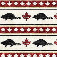 Stonehenge - Oh Canada II - Beaver Stripe Canadian Quilts, Quilts Canada, Canada 150, Quilt Of Valor, Stonehenge, Quilting Tips, Woodland Animals, Quilt Patterns, Red And White