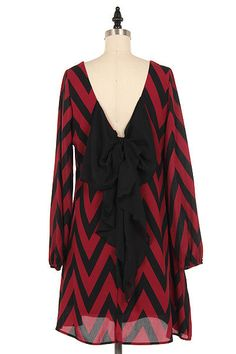 Pin-up Darling - Chevron Bow Back Dress in Red, $69.95 (http://www.pinupdarling.com/chevron-bow-back-dress-in-red/)