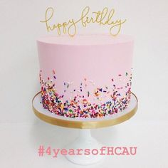 HCAU turns 4 today!  we've loved watching the society grow over the past four years  Huge shout out to the gals who have been with us since day one  and everyone else who has joined us along the way ✨ we can't wait to see where our little pink society goes next  #HCAUbirthday #HCAUturns4 #birthday #cake #HCXO #HCAU #hercampus #onlinemagazine #hercampusaberdeen