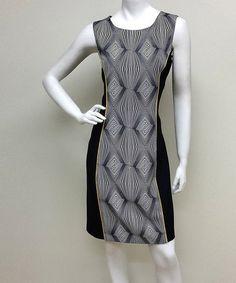 Another great find on #zulily! Black & Yellow Geometric Diamond Sheath Dress #zulilyfinds
