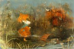 Сообщество иллюстраторов / Иллюстрации / smokepaint (Яковлева Полина) / дождливый вечер