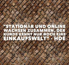 Stationär und Online wachsen zusammen. Der Kunde kennt nur noch eine Einkaufswelt, so HDE-Chef Genth. Wir bei upljft… http://itz-my.com