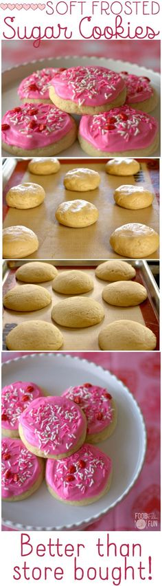 Soft Frosted Sugar Cookies recipe - BETTER than the store-bought ones! | Homemade | Lofthouse Copycat Recipe | Copycat Recipe | Lofthouse Sugar Cookies