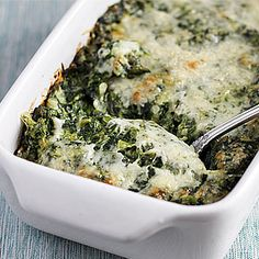Christmas Side Dish!  Creamed Spinach Gratin