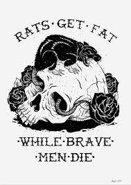 Afbeeldingsresultaat voor rats get fat tattoo