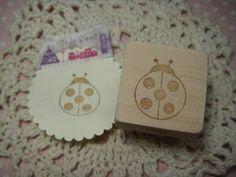 消しゴムはんこ てんとう虫 ハンドメイドスタンプ インテリア 雑貨 Handmade stamp ¥300yen 〆05月07日