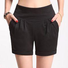 a6a85b705fd 2017 Summer Stretch Shorts Women Casual High Waist Shorts for Female Fat Plus  Size Woman Clothing