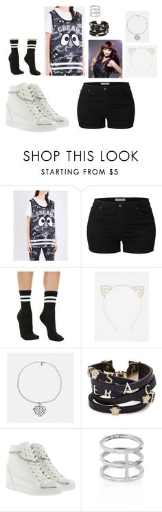 """MIestilo0750"" by paolaalbo ❤ liked on Polyvore featuring Mini Cream, LE3NO, Leg Avenue, CO, Full Tilt, Avenue, Versace, GUESS and Edge of Ember"