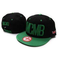 YMCMB Snapback Hats - Black Green