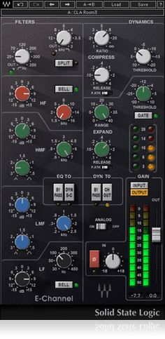 Developed under license from Solid State Logic, the SSL E-Channel strip plugin delivers the incomparable sound of the SSL 4000 Series console dynamics and EQ.
