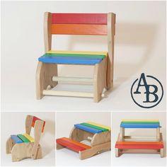 Classic Step Stool Chair  sc 1 st  Pinterest & KidKraft Two-Step Stool - Natural | Violetu0027s Room | Pinterest ... islam-shia.org