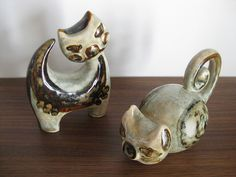 Soholm pottery cats