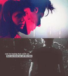 Damon Salvatore and Elena Gilbert; Delena
