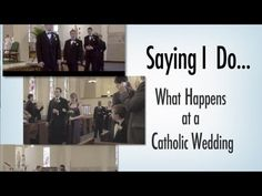 Saying I do... What Happens at a Catholic Wedding This video introduces viewers to the Rite of Marriage and answers frequently asked questions about Catholic marriage.
