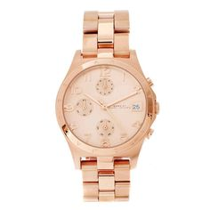 Marc By Marc Jacobs Henry All Rose Golden PVD Ladies Watch MBM3074 From Berry's Jewellers