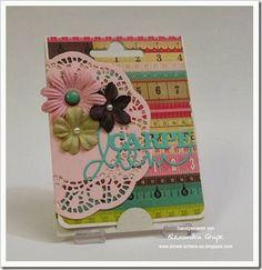 Gutscheinkarten-Karte für kreative Mädchen